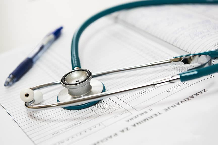 Medical Papers and Stethoscope