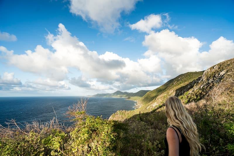 St. Croix Hillside and Caribbean Sea