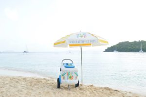 Ice Pop Push Cart on Beach