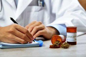 Doctor Writing a Medical Cannabis Prescription